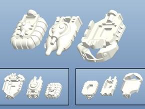 FMP Custom Minis (12 pcs) - (4 x 3 pcs) in Smooth Fine Detail Plastic