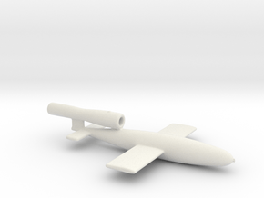 Fieseler V1 Buzz Bomb Ver C thickened walls  1/87 in White Natural Versatile Plastic