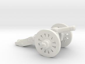 S Scale Cannon in White Natural Versatile Plastic