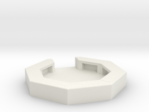 flak emplacement scale 1/100 in White Natural Versatile Plastic