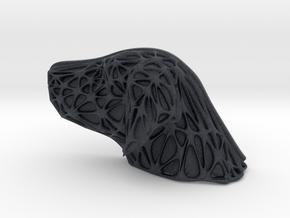 Dog Face + Voronoi Mask in Black PA12