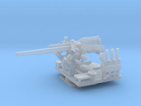 1/192 USN 5 inch 25 (12.7 cm) AA Gun in Smooth Fine Detail Plastic