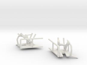 1/144 Bismarck Crane Storage Brackets in White Natural Versatile Plastic