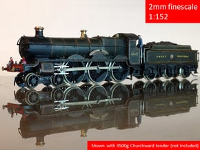GWR Saint class locomotive, 2mm FS in Smoothest Fine Detail Plastic