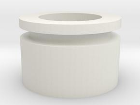 Rear Plug Spacer in White Natural Versatile Plastic