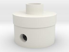 Front Plug in White Natural Versatile Plastic