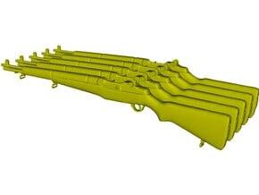 1/16 scale Springfield M-1 Garand rifles x 5 in Smooth Fine Detail Plastic