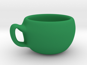 cup model A in Green Processed Versatile Plastic