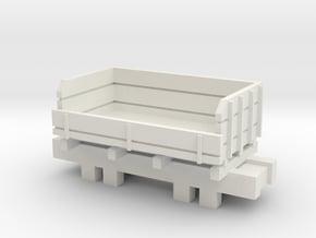 00 Scale Ballast Truck in White Natural Versatile Plastic