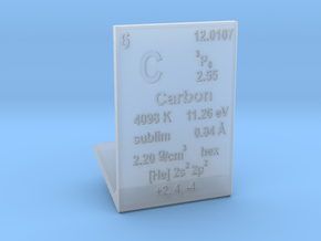 Carbon Element Stand in Smooth Fine Detail Plastic