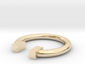 Box in 14k Gold Plated Brass