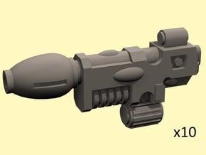 28mm Space Elf reaction pistols - no grip in Smoothest Fine Detail Plastic