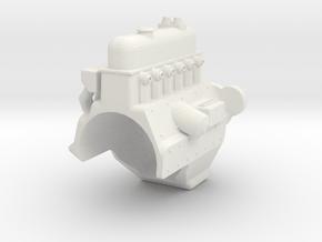MST CFX UNIMOG ENGINE BLOCK in White Natural Versatile Plastic