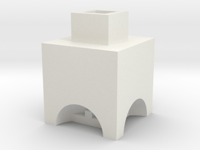 Historischer Hochofen ohne Ofenkammer TT 1:120 in White Natural Versatile Plastic