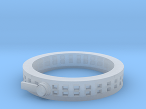 Zipper ring in Smooth Fine Detail Plastic: 1.5 / 40.5