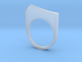 Faceted Ice Ring in Smooth Fine Detail Plastic: 6 / 51.5