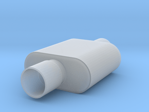 1/12 Scale 1 Chamber Flowmaster Muffler in Smoothest Fine Detail Plastic