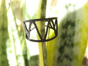 Sinusoidal 3 Ring in Black Natural Versatile Plastic