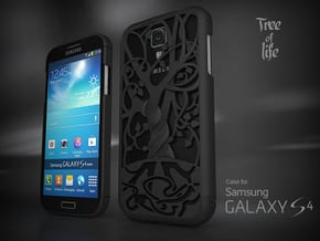 """Samsung Galaxy S4 case """"Tree of life"""" in White Natural Versatile Plastic"""