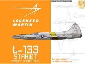 (1/144) Lockheed L-133 Starjet in Black Natural Versatile Plastic