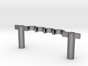 Inductordrawer pull #10-32 thread @ 3in in Polished Nickel Steel