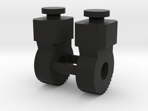 Thigh-Extending Knees for PotP Grimlock in Black Natural Versatile Plastic