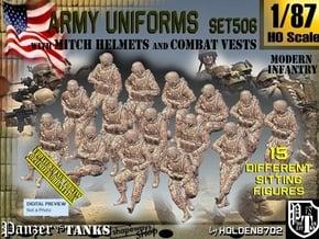 1/87 Mod-Unif Vest+Mitch Set506 in Smooth Fine Detail Plastic