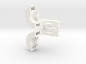 Ultra Magnus Arm Wheels (Shallow Version) in White Processed Versatile Plastic