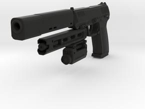 Psycho Pistol in Black Natural Versatile Plastic