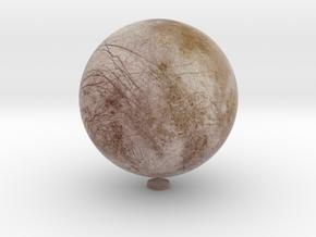 "Europa /12"" Earth globe addon in Natural Full Color Sandstone"