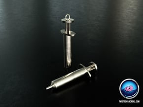Syringe Earrings 2pc in White Processed Versatile Plastic