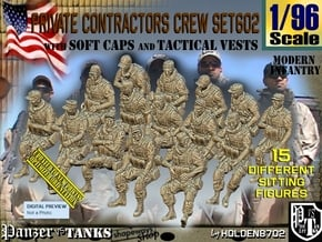 1/96 Mod-Unif Vest+Cap Set602 in Smooth Fine Detail Plastic
