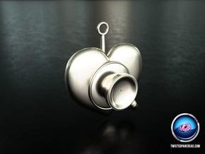 Stethoscope Pendant in White Processed Versatile Plastic