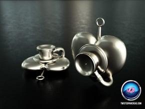 Stethoscope Earrings in White Processed Versatile Plastic