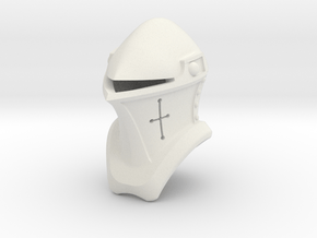 Frog Mouth Helm (Full) in White Natural Versatile Plastic: Small
