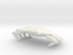 螃蟹.stl in White Natural Versatile Plastic