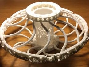 Exodus Deployable Toroid Array in White Natural Versatile Plastic