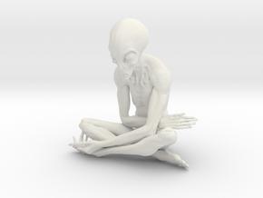 25cm ET alien sculpture in White Natural Versatile Plastic: Extra Large