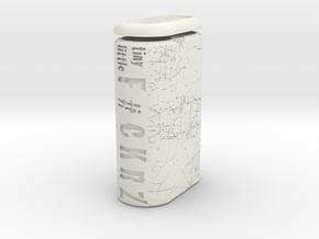 TLF# - Battery Case - 21700 in White Natural Versatile Plastic