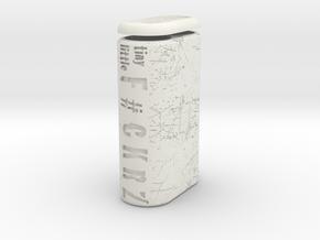 TLF# - Battery Case - 18650 in White Natural Versatile Plastic