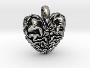 Dragon Heart Pendant in Antique Silver