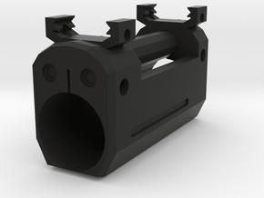 Psycho Tactical Flashlight Mount in Black Natural Versatile Plastic