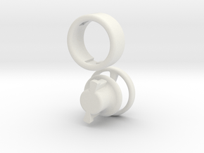 lockabe neckerchief slide in White Natural Versatile Plastic