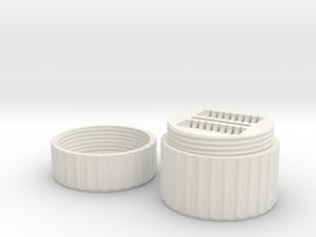SD & MicroSD Card Case in White Natural Versatile Plastic
