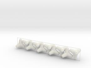 Tetrapod - 20 ton size (x10) in White Natural Versatile Plastic: 1:64 - S