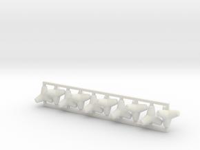 Tetrapod - 0.5 ton size (x10) in White Natural Versatile Plastic: 1:64 - S