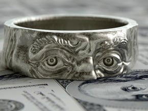 Franklin Ring original in Rhodium Plated Brass: 12 / 66.5