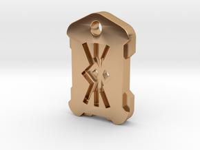 "Nordic Rune Letter ""KK"" in Polished Bronze"