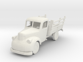 O Scale Old Truck in White Natural Versatile Plastic