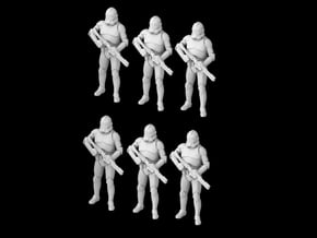 (1/47) 6x Clone Trooper Phase 2 in formation in Smooth Fine Detail Plastic